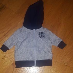 Baby boy zip up hoodie